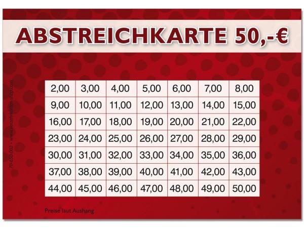 Abstreichkarten 70-650-002
