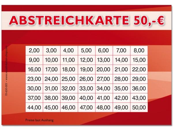 Abstreichkarte 70-650-005